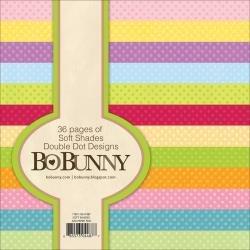 BoBunny Double Dot Paper Pad 6X6 36/Pkg Soft Shades