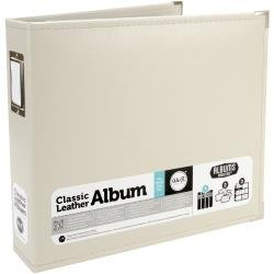 We R Faux Leather D-Ring Binder 12X12 Greige
