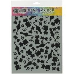 Dyan Reaveley's Dylusions Stencils 9X12 It's Raining Cats