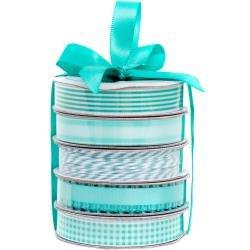 American Crafts Premium Ribbon & Twine 5/Pkg Spring Teal