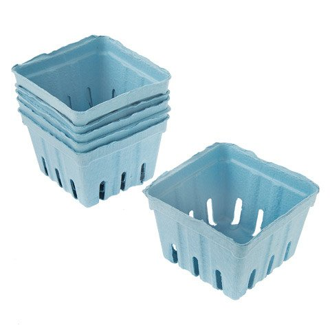 Darice Light Blue Paper Berry Baskets: 3.5 x 3.5 inches, 1 piece
