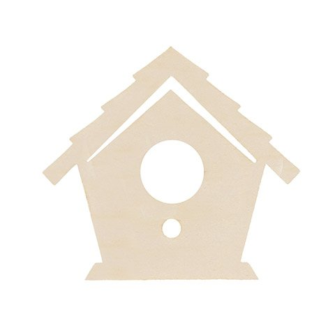 Darice Unfinished Wood Birdhouse: 4.63 x 4.25 inches