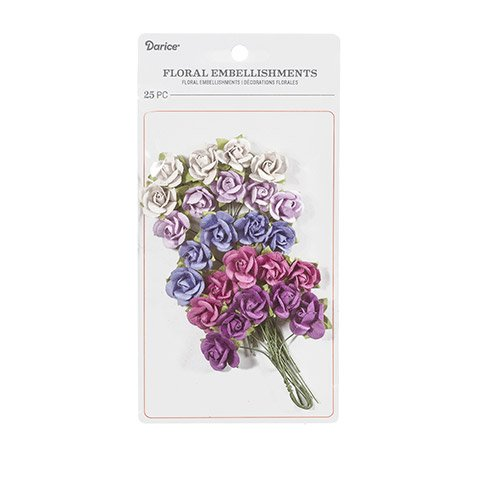 Darice Mini Sachet Rose and Pansy Floral Embellishment: 0.75 inches