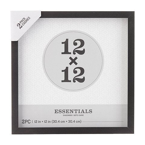 Darice Essentials Black Shadow Box: 12 x 12 inches, 2 pieces