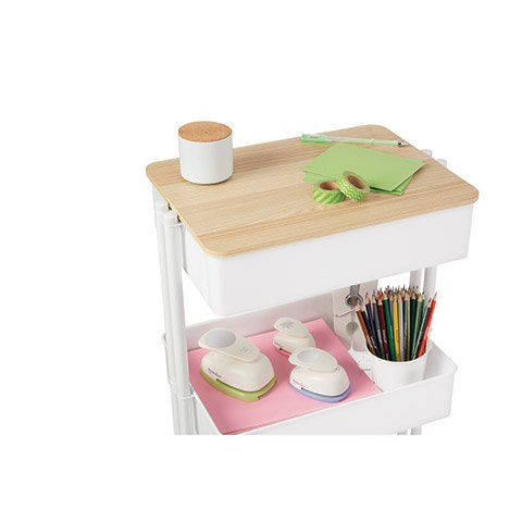 Darice Metal Cart Top: 15.2 x 11.4 inches (white or ash)