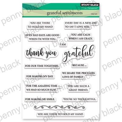 Penny Black Clear Stamps Grateful Sentiments