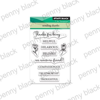 Penny Black Clear Stamps Sending Thanks