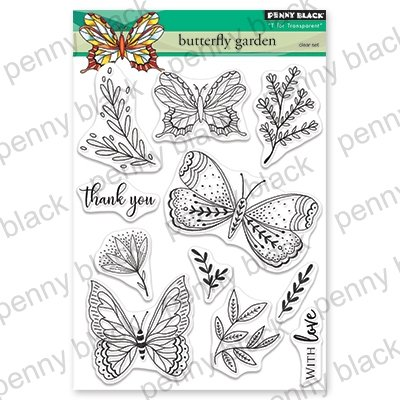 Penny Black Clear Stamps Butterfly Garden