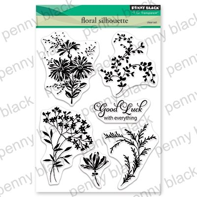 Penny Black Clear Stamps Floral Silhouette