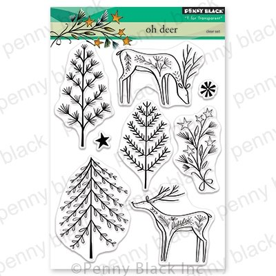 Penny Black Clear Stamps Oh Deer 5X6.5