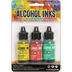 Tim Holtz Alcohol Ink .5oz 3/Pkg Key West-Dandelion/Coral/Pistachio