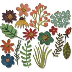 Sizzix Thinlits Dies By Tim Holtz Funky Floral #1