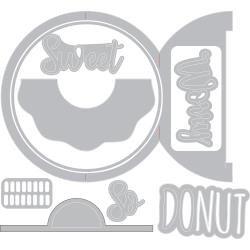 Sizzix Thinlits Dies By Jen Long Donut Fold-A-Long Card