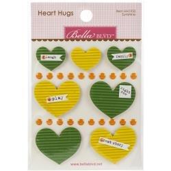 BB Legacy Heart Hugs Embellishments 7/Pkg Sunshine