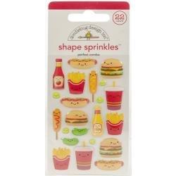 Doodlebug Sprinkles Adhesive Glossy Enamel Shapes Perfect Combo, 22/Pkg