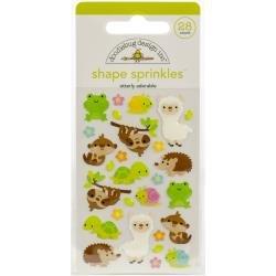 Doodlebug Sprinkles Adhesive Glossy Enamel Shapes Otterly Adorable, 28/Pkg