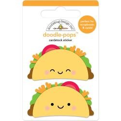 Doodlebug Doodle-Pops 3D Stickers Taco-Bout Fun
