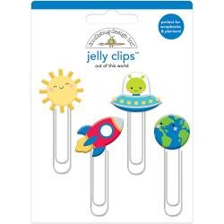 Doodlebug Jelly Clips 4/Pkg Out Of This World