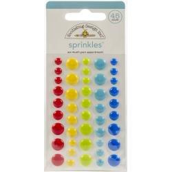 Doodlebug Sprinkles Adhesive Matte Enamel Dots So Much Pun, 45/Pkg
