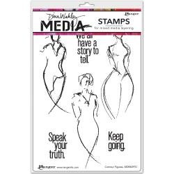 Dina Wakley Media Cling Stamps 6X9 Contour Figures