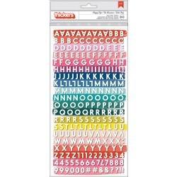 Paige Evans Pick Me Up Thickers Stickers 5.5X11 2/Pkg Happy Life Mini Alpha/White & Navy Foam