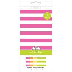 Doodlebug Planner Inserts 4/Pkg Summertime Stripes Grid & Dot Grid