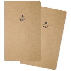 Carpe Diem Traveler's Notebook Inserts 5X8.25 2/Pkg Two Daily, 31 Days Each