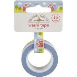 Doodlebug Washi Tape 15mmx12yd On The Farm