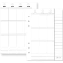 Simple Stories Planner Essentials Double-Sided Inserts A5 72/Pkg Weekly Vertical