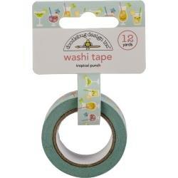 Doodlebug Washi Tape 15mmx12yd Tropical Punch