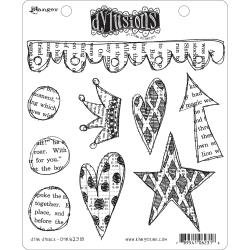 Dyan Reaveley's Dylusions Cling Stamp Collections 8.5X7 Star Struck