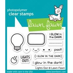 Lawn Fawn Clear Stamps 3X2 Lights Out