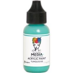Dina Wakley Media Acrylic Paint 1oz Turquoise