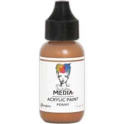 Dina Wakley Media Metallic Acrylic Paint 1oz Penny
