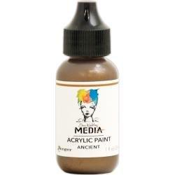 Dina Wakley Media Metallic Acrylic Paint 1oz Ancient