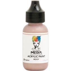 Dina Wakley Media Metallic Acrylic Paint 1oz Rosy