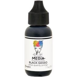 Dina Wakley Media Gesso 1oz Tube Black