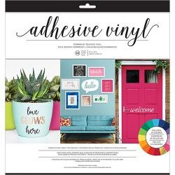 American Crafts Vinyl Combo Pack 40/Pkg Bright Solid Colors