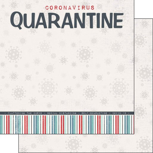 Scrapbook Customs Covid-19 Quarantine Title DS Paper  *pre-order*