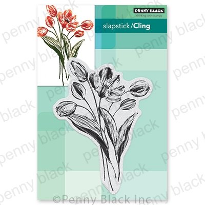 Penny Black Cling Stamps BLOOMING TULIPS