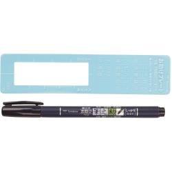 Tombow Fudenosuke Brush Fine Tip Pen Black (Hard Nib)