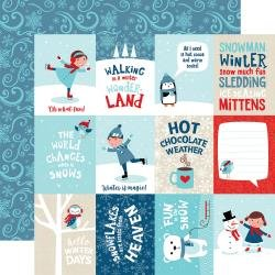 Echo Park Celebrate Winter Double-Sided Cardstock 12X12 3X4 Journaling Cards