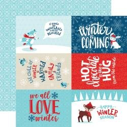 Echo Park Celebrate Winter Double-Sided Cardstock 12X12 4X6 Journaling Cards