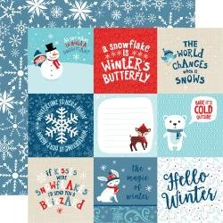 Echo Park Celebrate Winter Double-Sided Cardstock 12X12 4X4 Journaling Cards