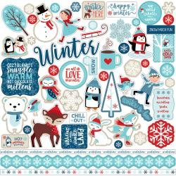 Echo Park Celebrate Winter Cardstock Stickers 12X12 Elements