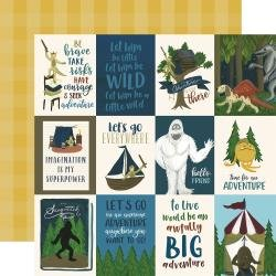 Echo Park Adventure Awaits Double-Sided Cardstock 12X12 3X4 Journaling Cards