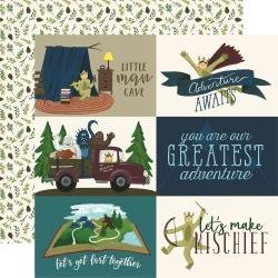 Echo Park Adventure Awaits Double-Sided Cardstock 12X12 4X6 Journaling Cards