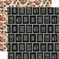 Echo Park Coffee Double-Sided Cardstock 12X12 I Like Big Cups
