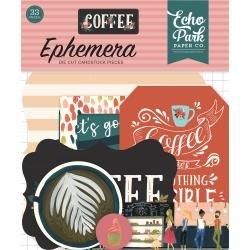 Echo Park Coffee Cardstock Die-Cuts 33/Pkg Icons