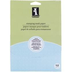 Inkadinkado Stamping Mask Paper 7X5 12/Pkg